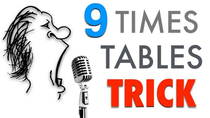 9 times tables trick