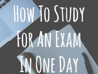 how to study for exams in one day